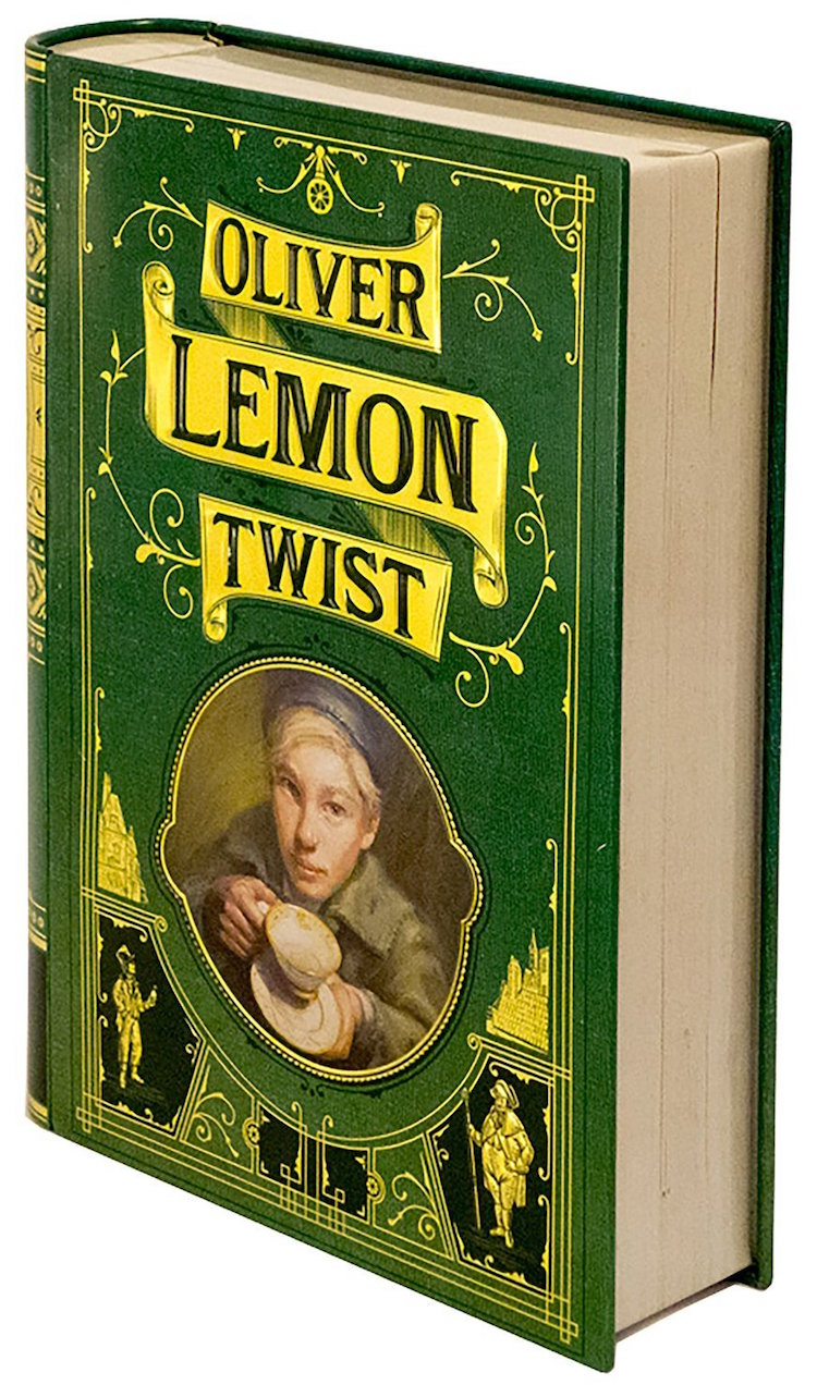 oliver lemon twist book-shaped tea tins novelteas puns