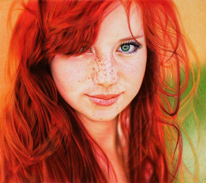 Samuel Silva Colorful hyperrealistic pen art