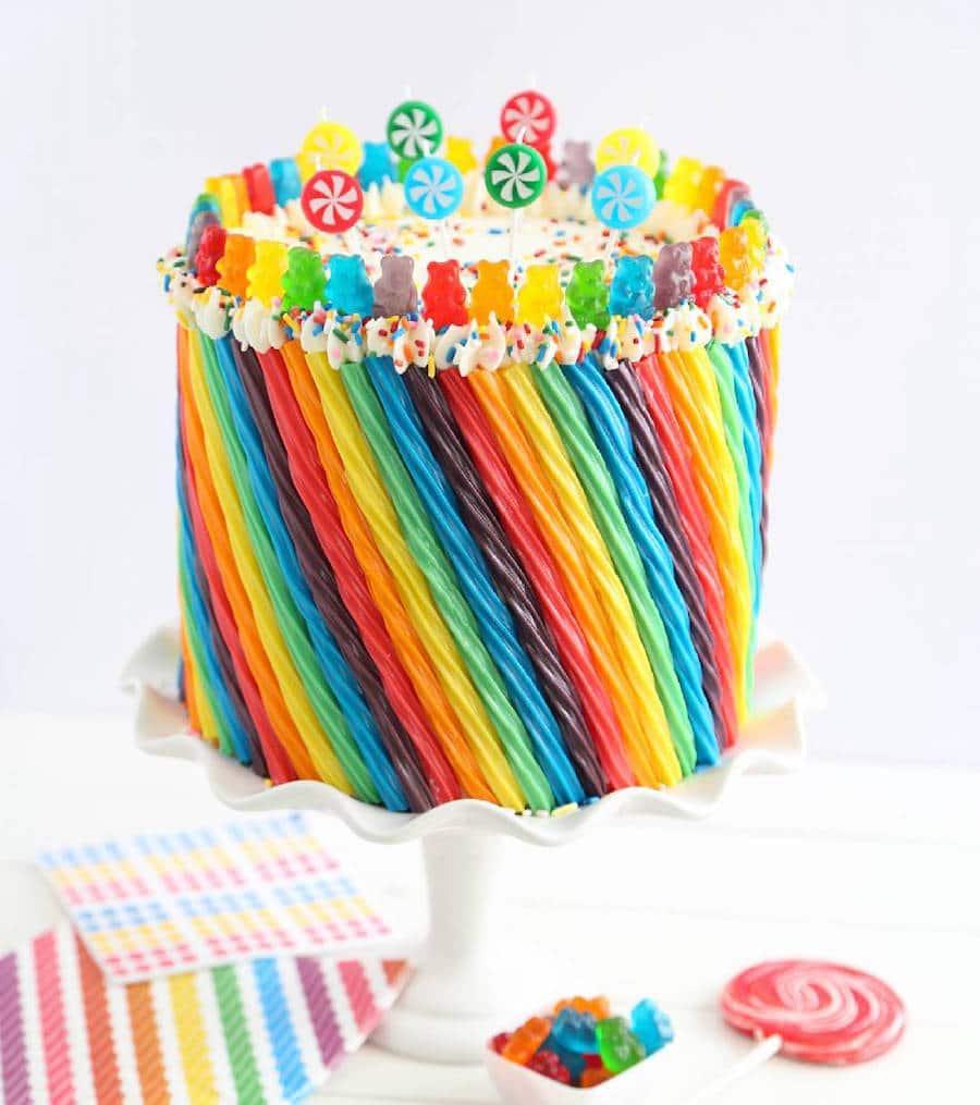 Rainbow Cake Heather Baird Sprinkle Bakes