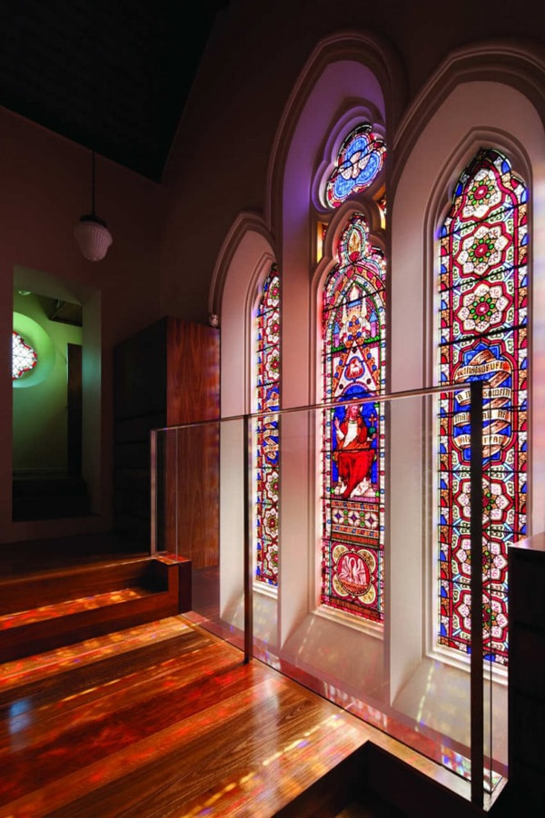 Stained Glass Features Of Converted Church Home