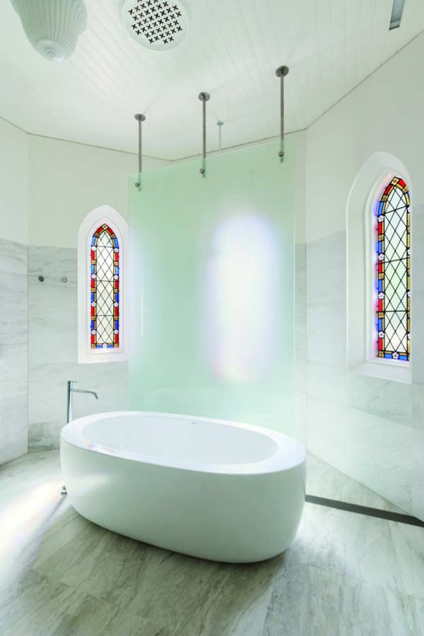 17 churches creatively converted into modern homes for Church bathroom designs