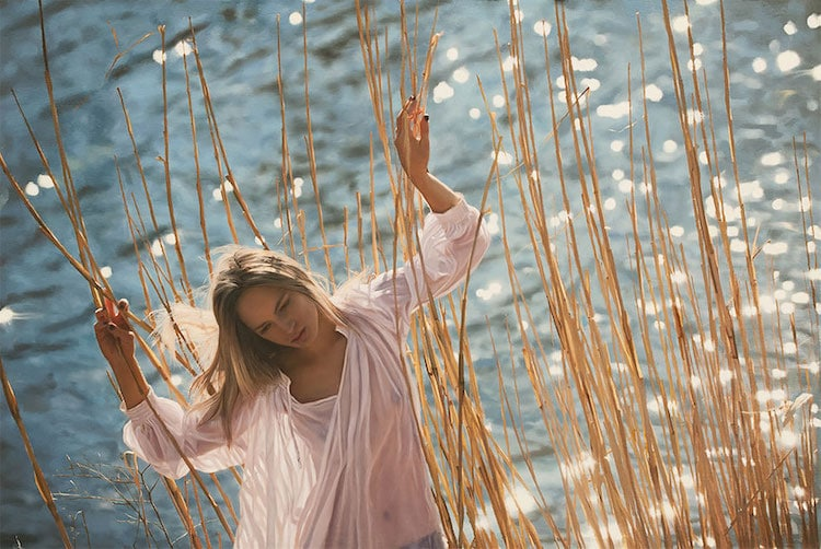 yigal ozeri photorealistic painting