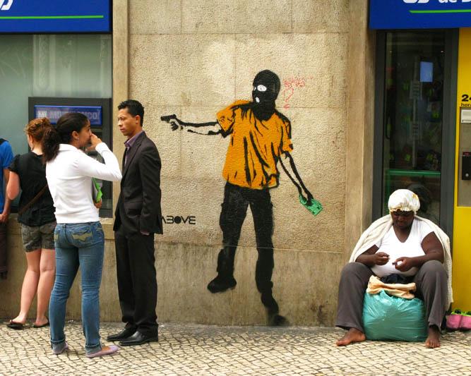 urban art above street art