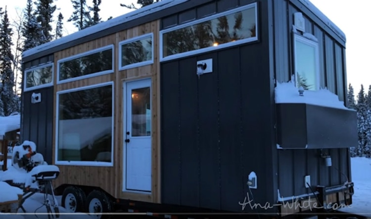 ana white tiny house elevating bed moveable furniture open concept home