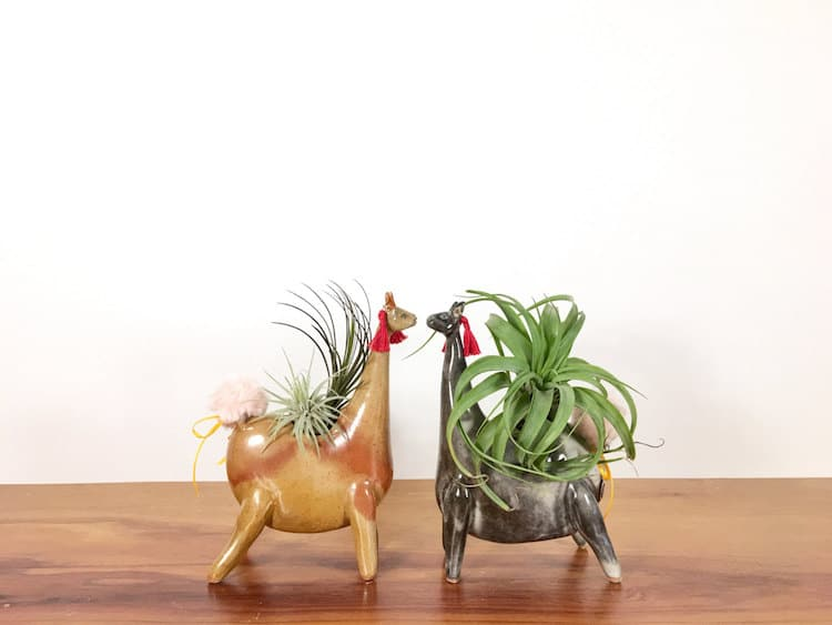 llama animal air plant vases Yoshiko Kozawa studio giverny etsy plants