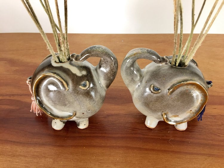 elephant animal air plant vases Yoshiko Kozawa studio giverny etsy plants