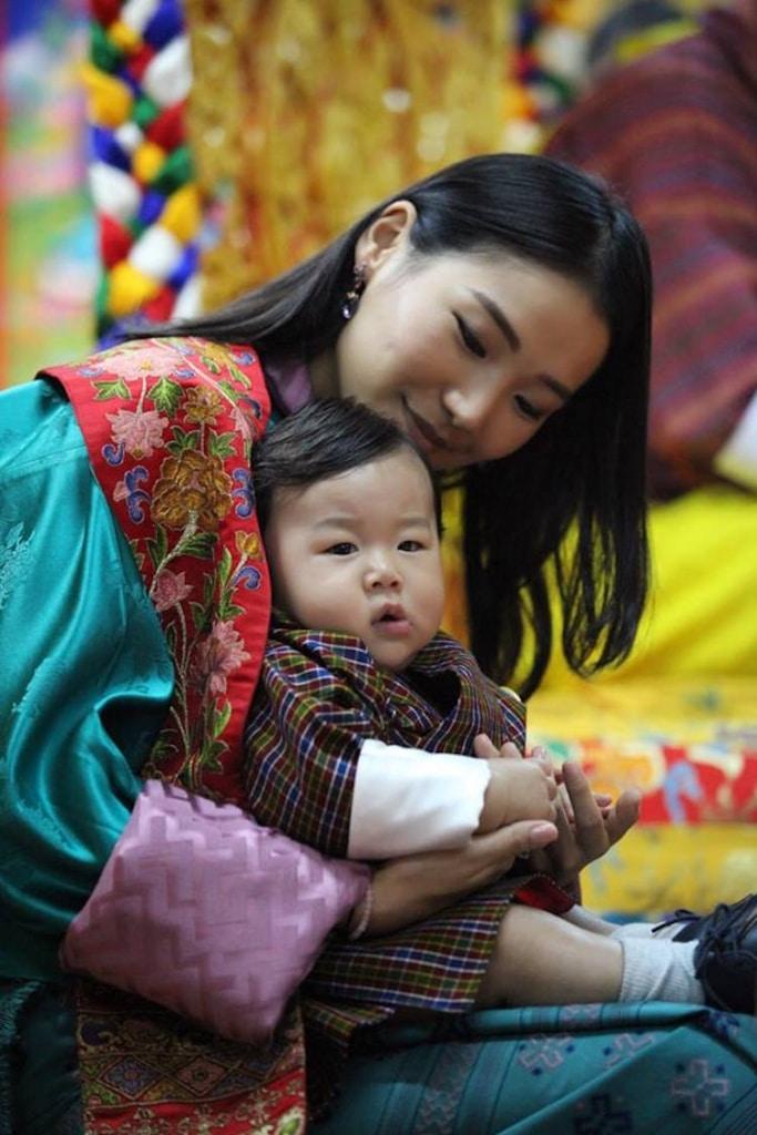 baby prince of bhutan first birthday Jigme cute photo