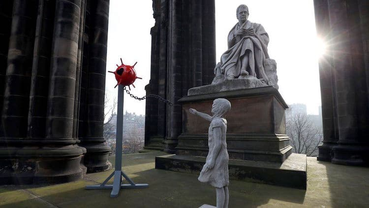 banksy tribute edinburgh valentine's day