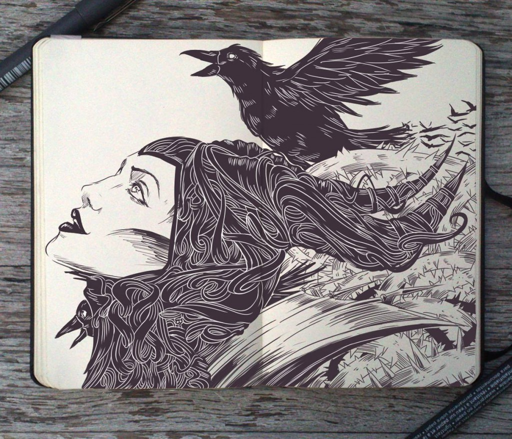 Beautiful Sketchbooks by Gabriel Picolo
