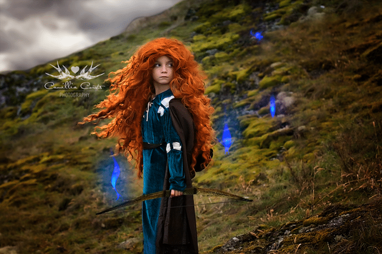 merida camillia courts the magical world of princesses disney princess photo shoot dress up