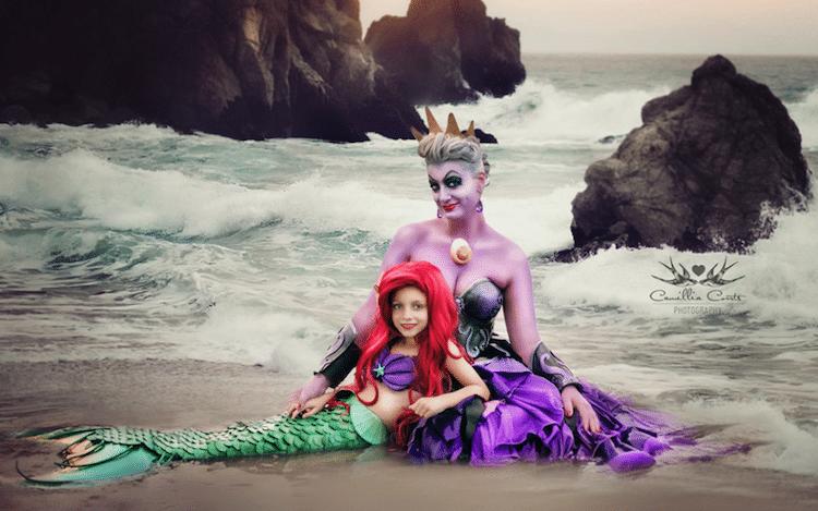 ariel little mermaid ursula camillia courts the magical world of princesses disney princess photo shoot dress up