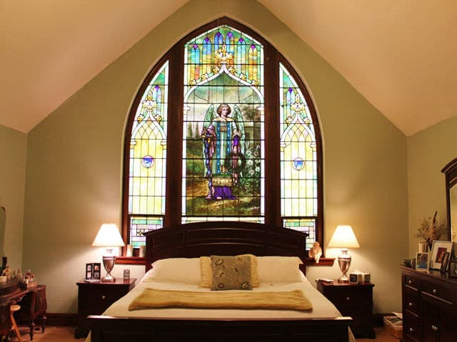 Stained Glass Feature Of Converted Church Home