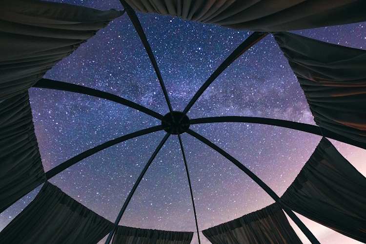 Cozy Places to Stargaze Around the World sleep under the stars hotels cabins tents