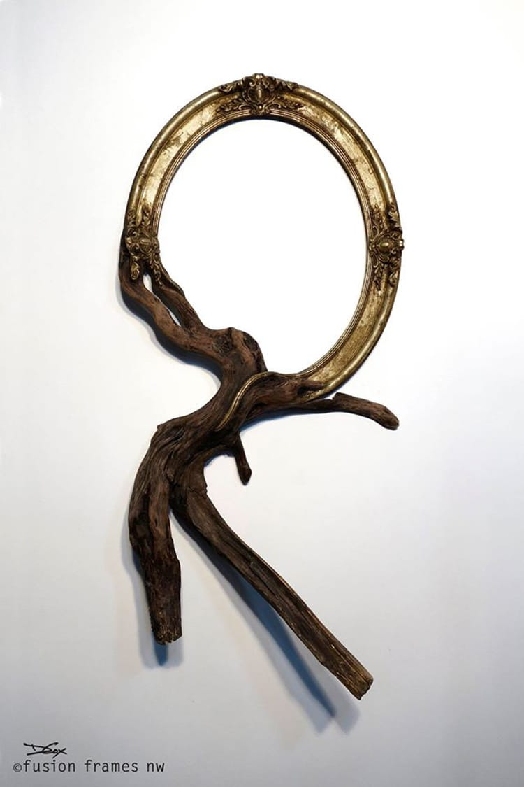 Discarded Frames and Gnarled Tree Branches Form Stunning Fusion Frames