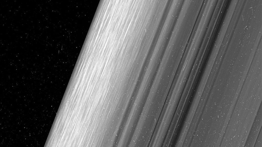 Rings of Saturn detailed close up by Cassini unmanned spacecraft
