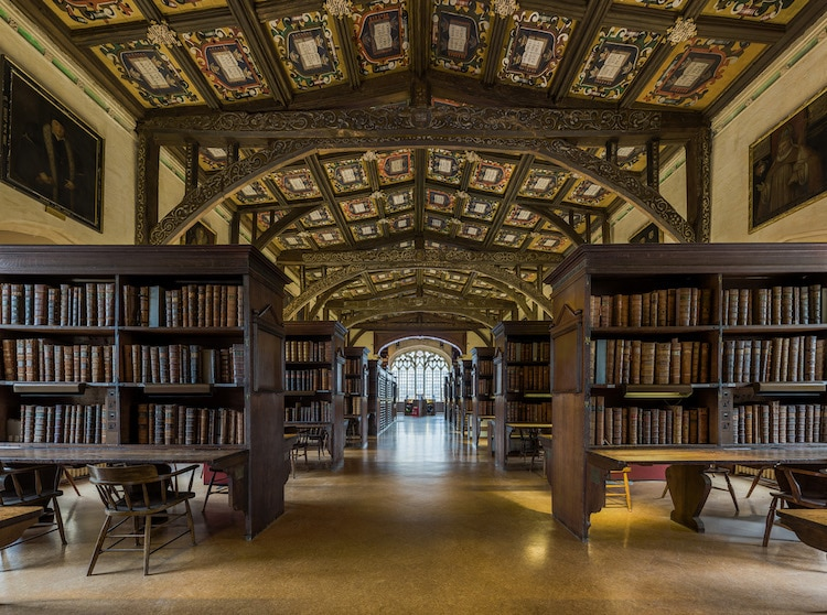 Duke Humfrey's Library - Bodleian Libraries at the University of Oxford oldest europe