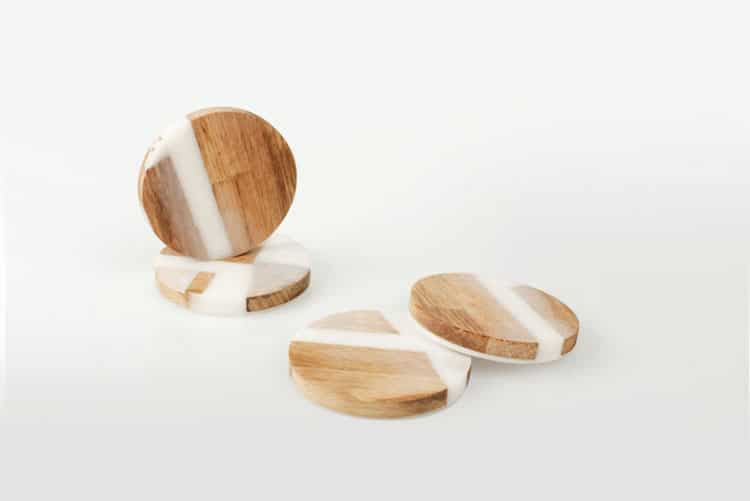 resin and wood furniture