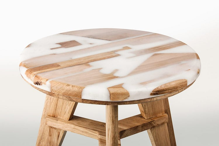 resin furniture resin and wood stool