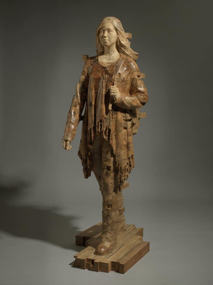 contemporary wood sculptures hsu tang han