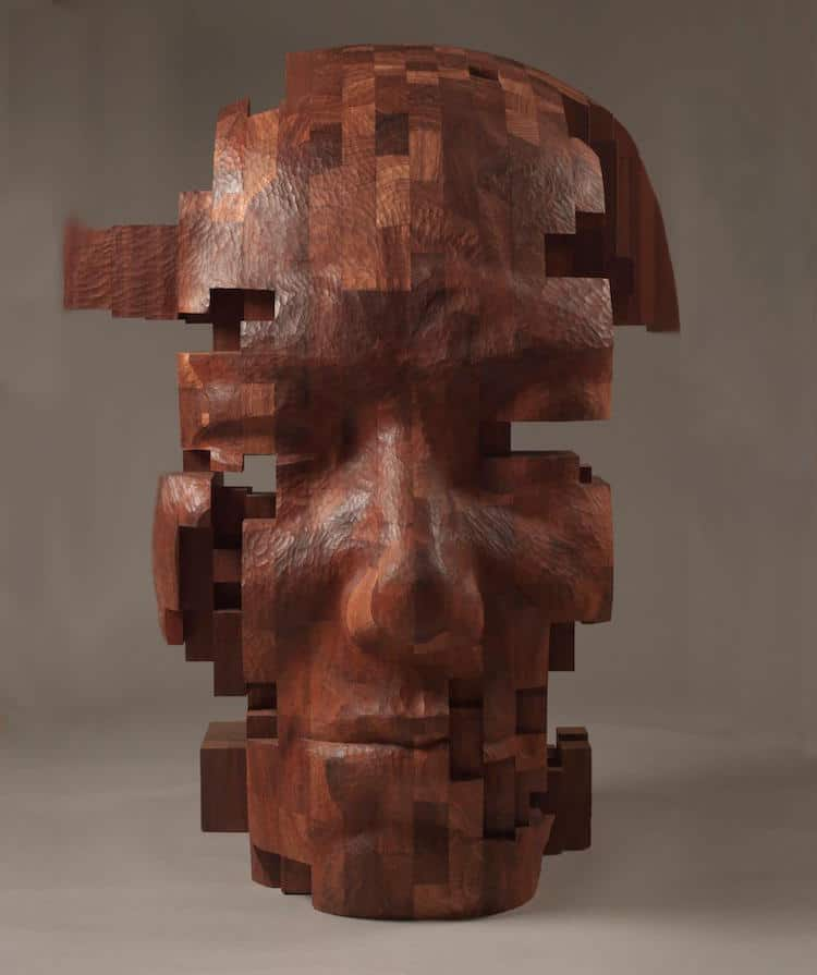 contemporary wood sculptures taiwanese artist