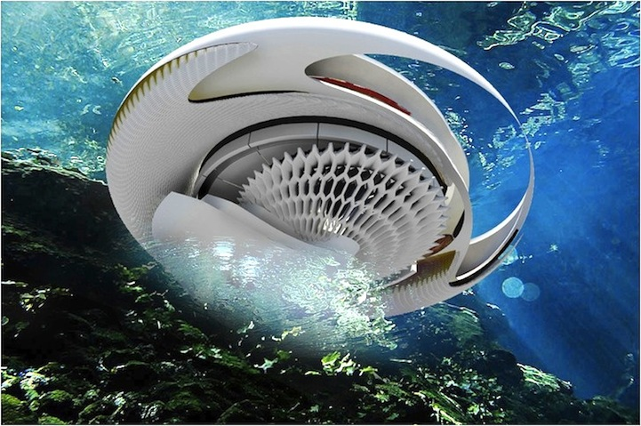 In The Future Can You Imagine A House Powered Solely By Ocean Waves Designer And Architect Margot Krasojevic Is Behind Hydroelectric Tidal