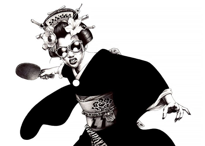 Shohei Otomo pen illustrations japanese art