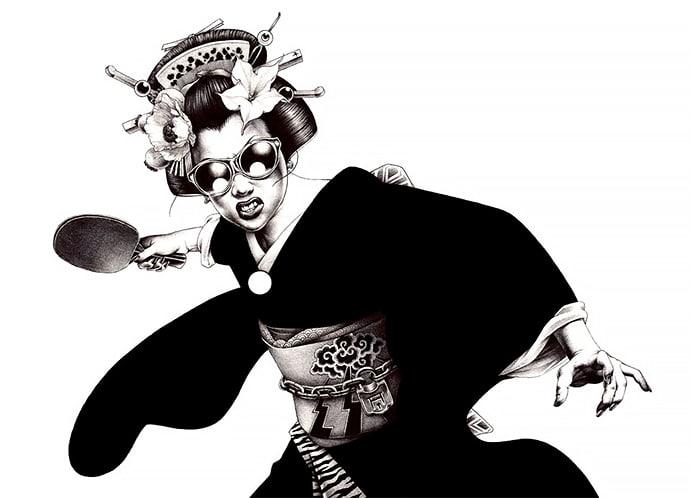 Shohei Otomo pen illustrations japanese art