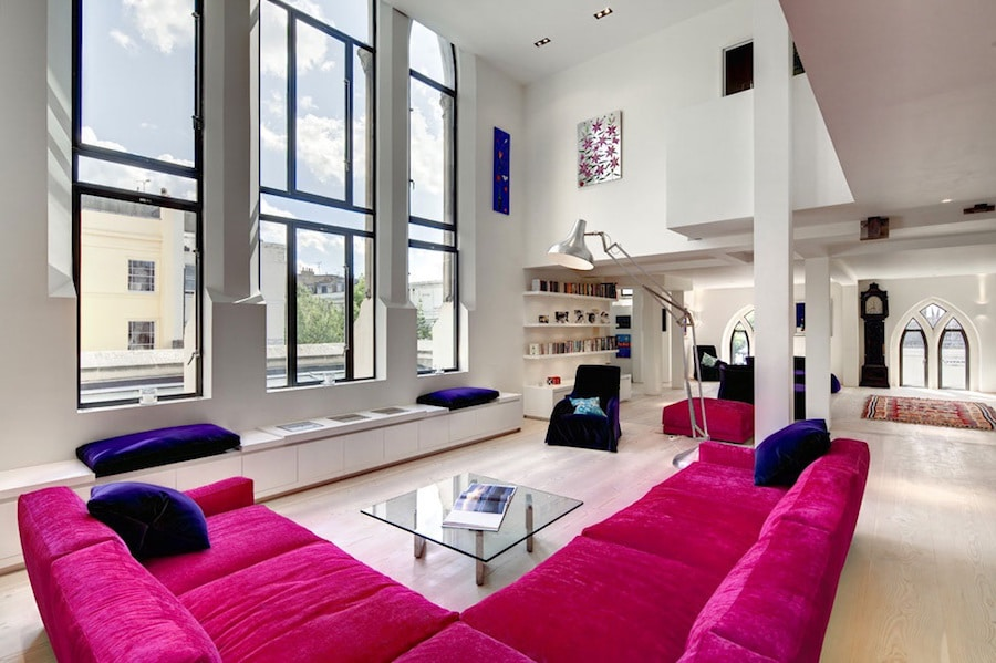 Interior Loft Concept Of Converted English Church