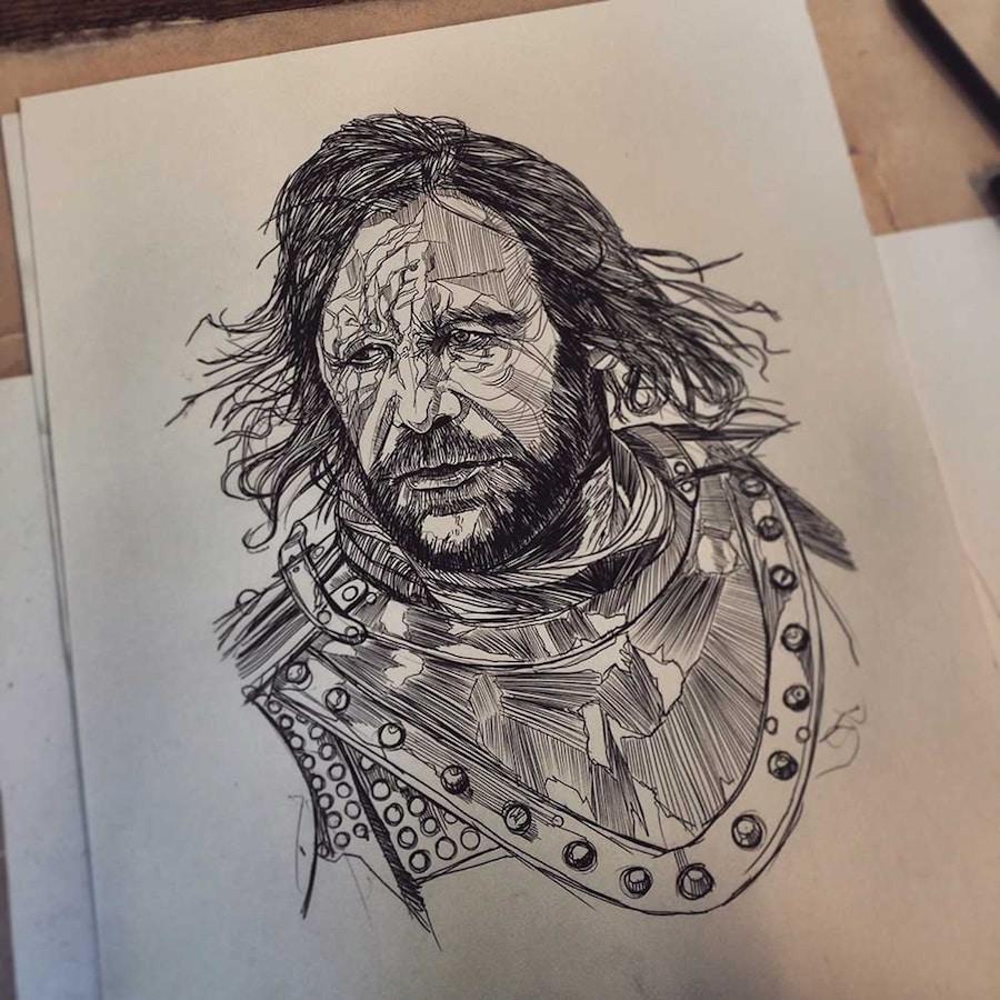 luke dixon biro drawing artists