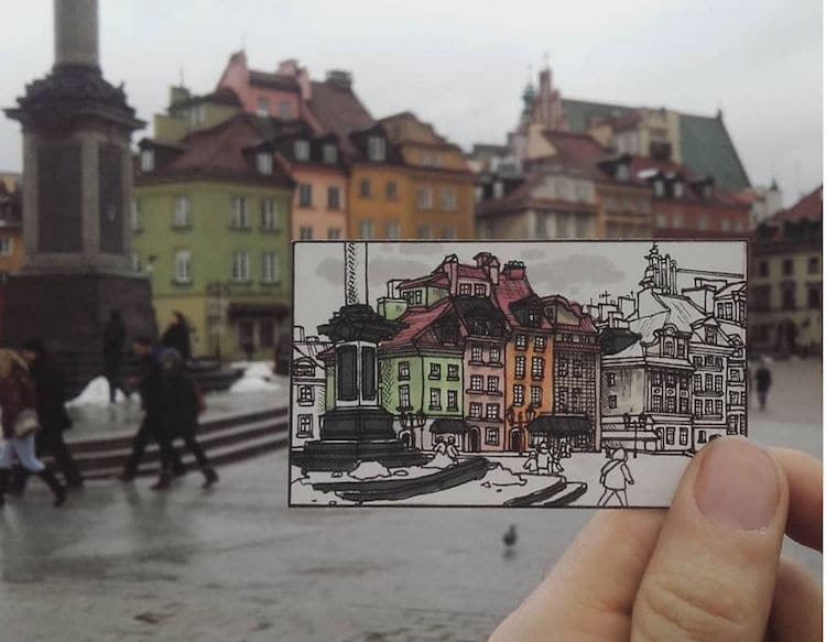maxwell tilse maxwell illustration illustrated postcards backpacking travel