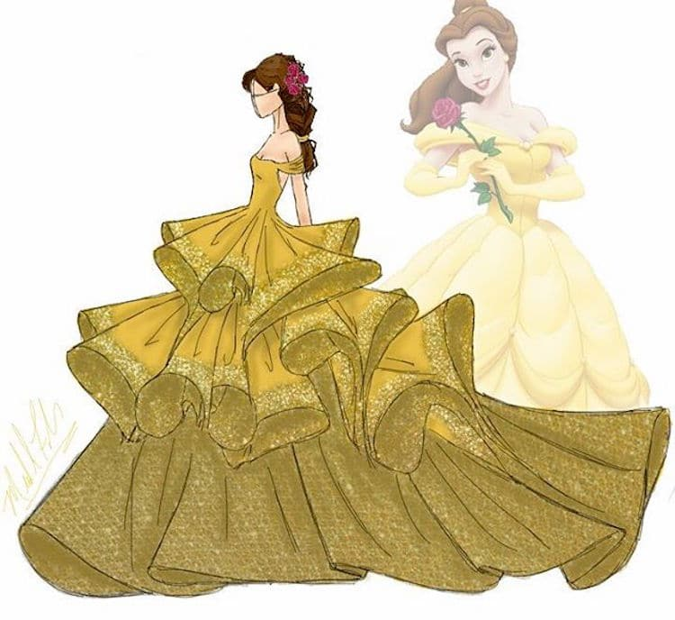 couture disney princesses gives characters high fashion