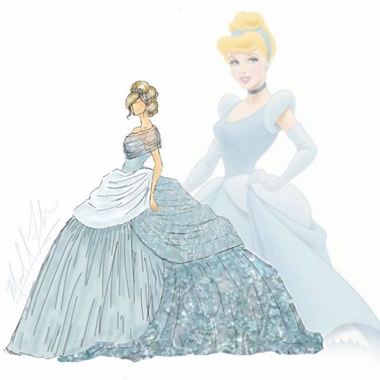 michael anthony couture disney princesses dibujo cenicienta