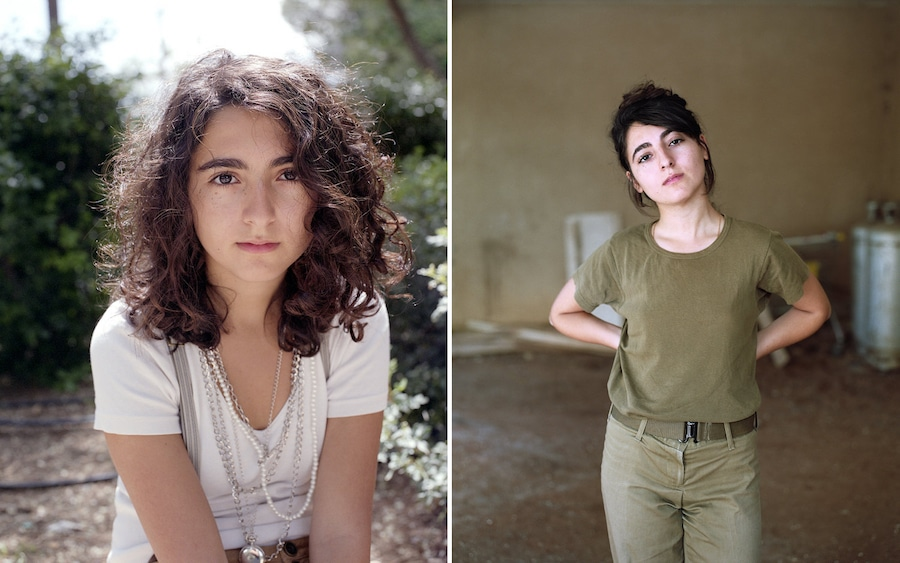 neta dror israeli girls portraits then and now