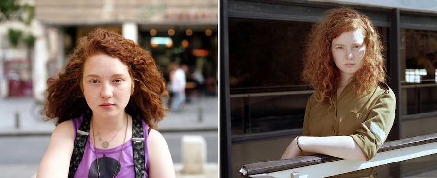 neta dror portraits of Israeli girls then and now