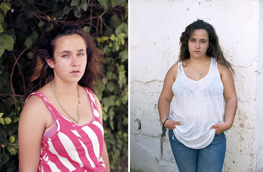 Proyecto de fotografía fotos antes y después chicas israel