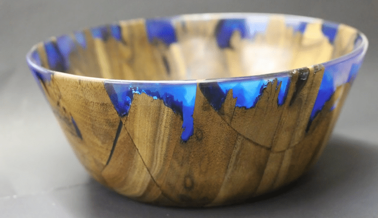 how to create a resin wood bowl