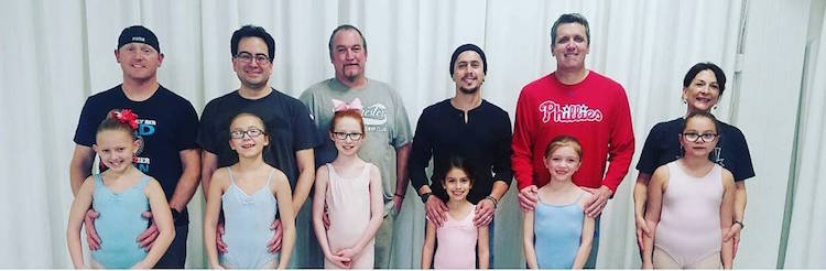 philadelphia dance center dad ballet class dancing dads valentine's day