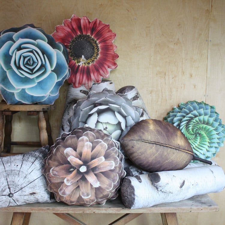 plantillo nature pillows plant pillows etsy