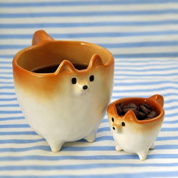 Ceramic Shiba Inu Mugs by Siro's Funny Animals