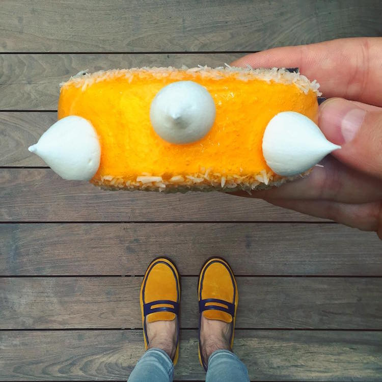 Tal Spiegel Desserted in Paris matching shoes and desserts pastries