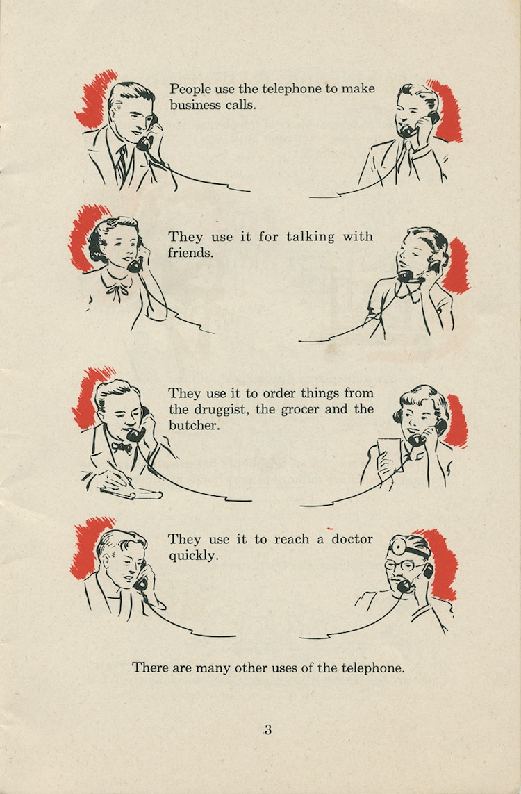 vintage etiquette guide telephone
