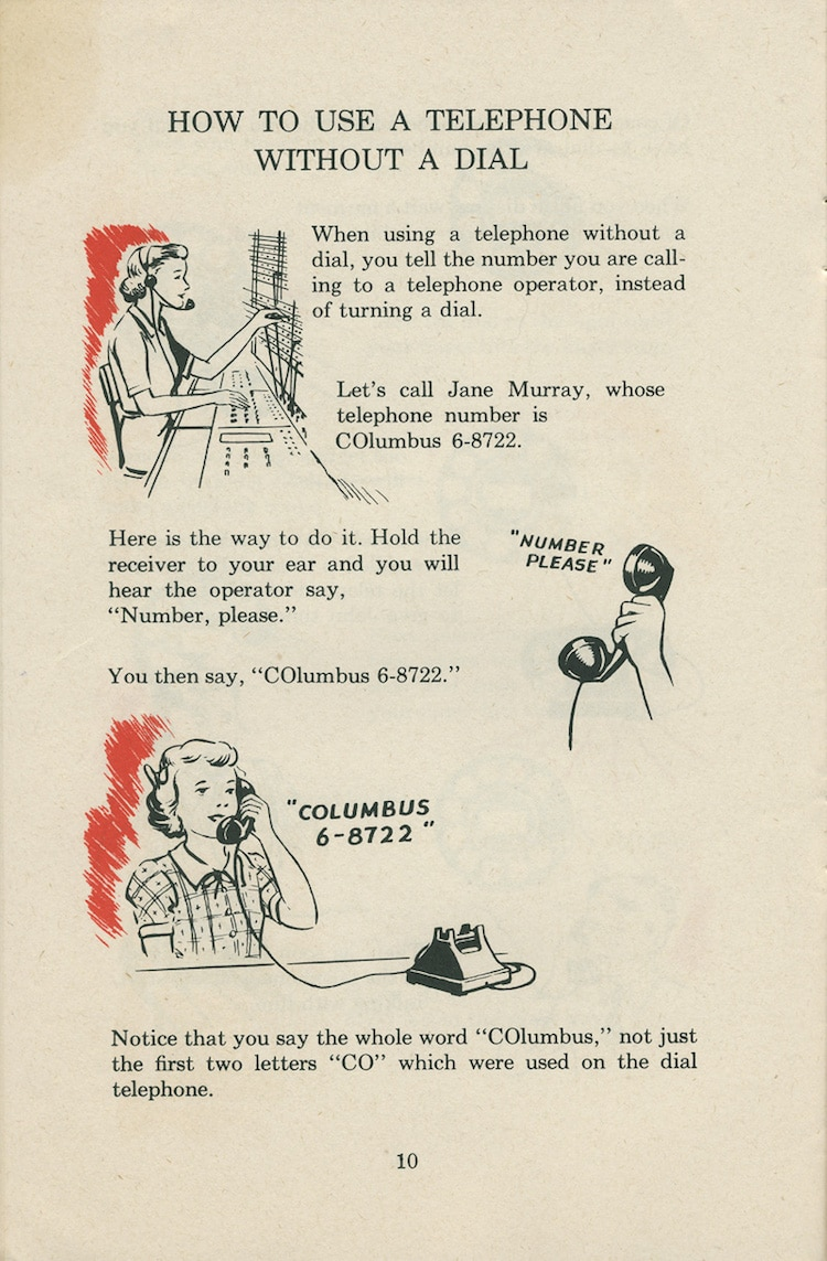 how to use a rotary phone