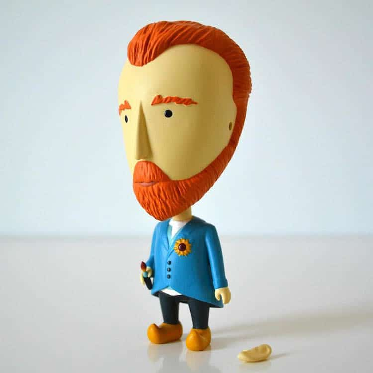 Van Gogh Action Figure with Detachable Ear by Today is Art Day