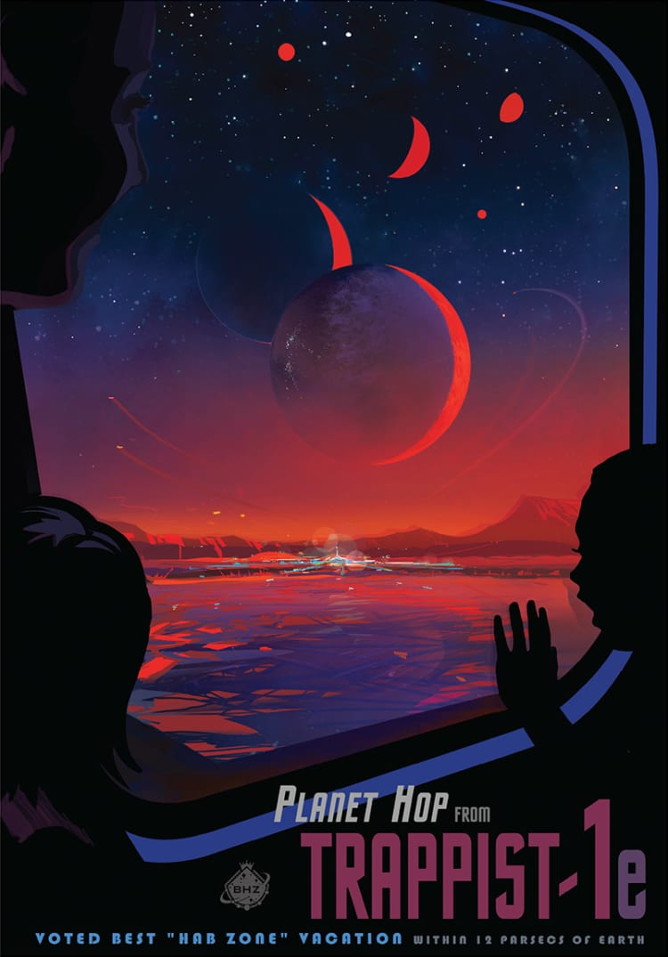 planetary travel poster