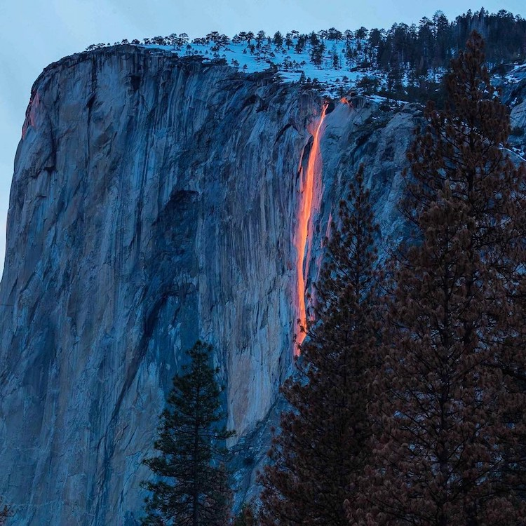 Yosemite Firefall Ignites Horsetail Fall with a Brilliant Illusion