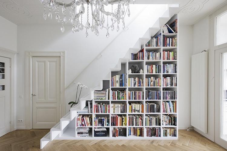 unique bookcases creative bookshelves books design staircase multifunctional