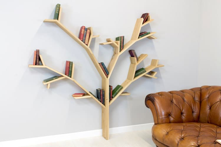 unique bookcases creative bookshelves books design tree nature branches