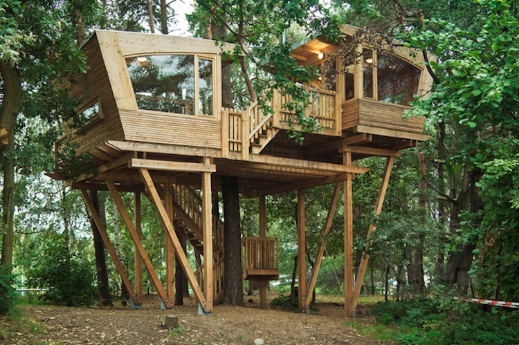 treehouses for grown-ups treehouse travel cabin almke treehouse baumraum