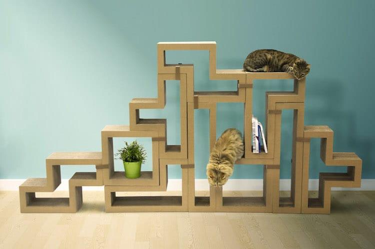 unique bookcases creative bookshelves books design cat tree multifunctional