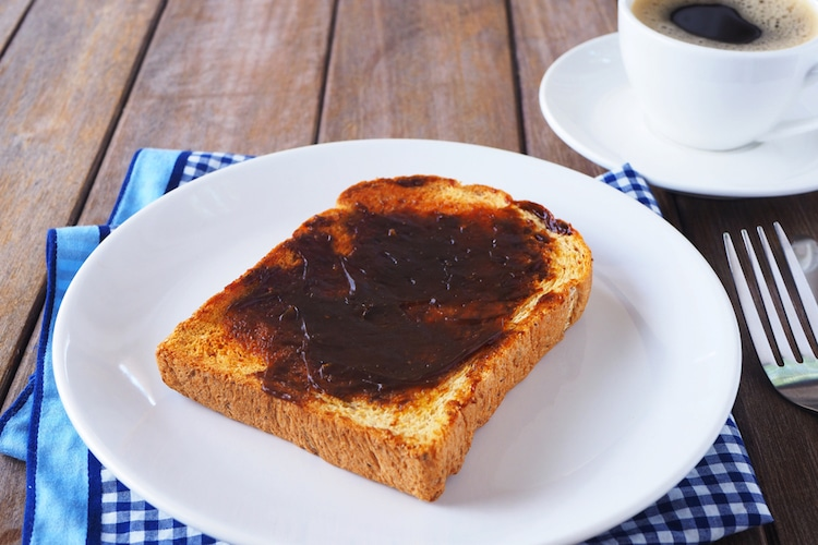 vegemite on toast australian breakfast